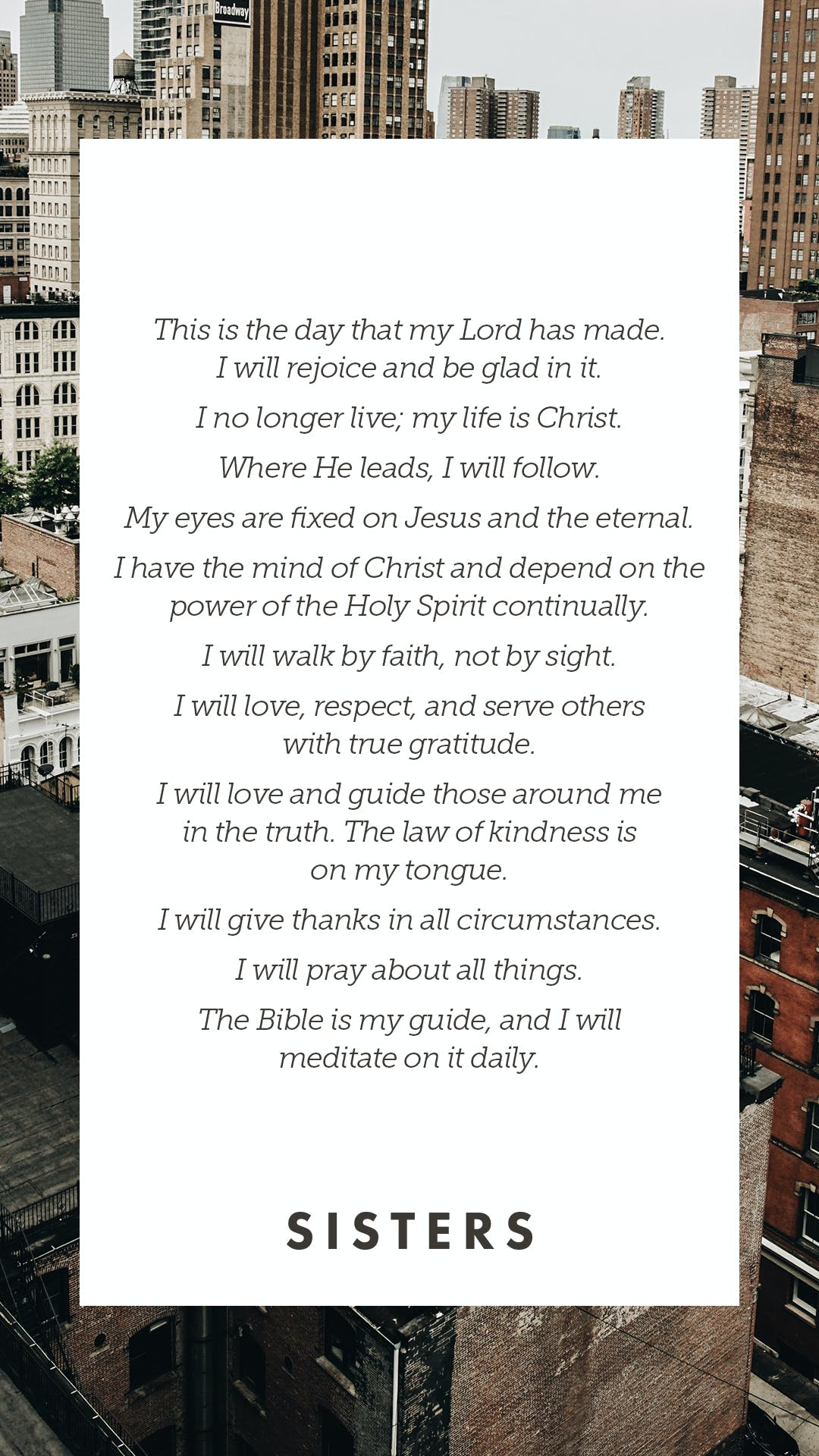Amy Groeschel's Daily Affirmations